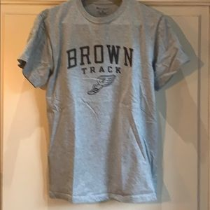Brown Track t shirt